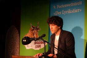 Alexander Weinstock (Stipendiat des Lyrikstiers 2017). Foto: DAS GEDICHT
