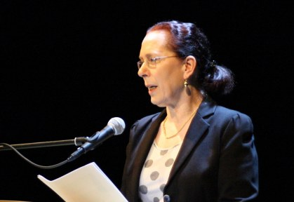 Moderatorin Felizitas Leitner. Foto: Jan-Eike Hornauer