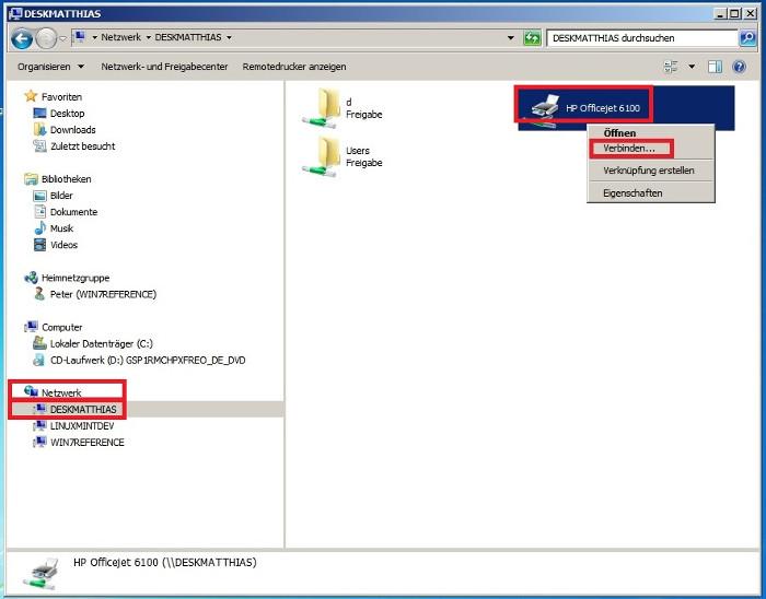 Windows 7 Drucker Freigabe Dasheimnetzwerk De