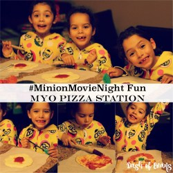 Our #MinionsMovieNight Fun: MYO Pizza St...