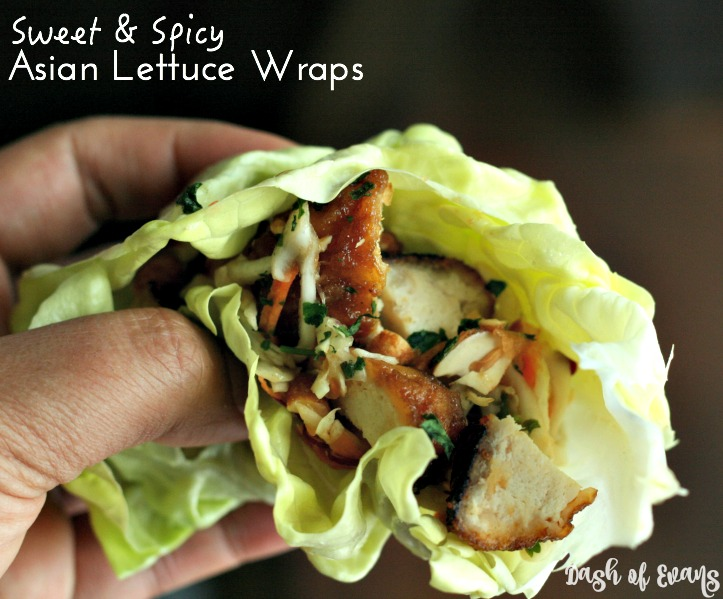 Sweet & Spicy Asian Lettuce Wraps--using Tyson Any'tizers. Make this your new #GameDayFav (ad) #SoFab