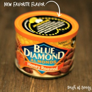 Blue Diamond Almonds come in the BEST flavors for snacking--Honey Roasted is my new fav!