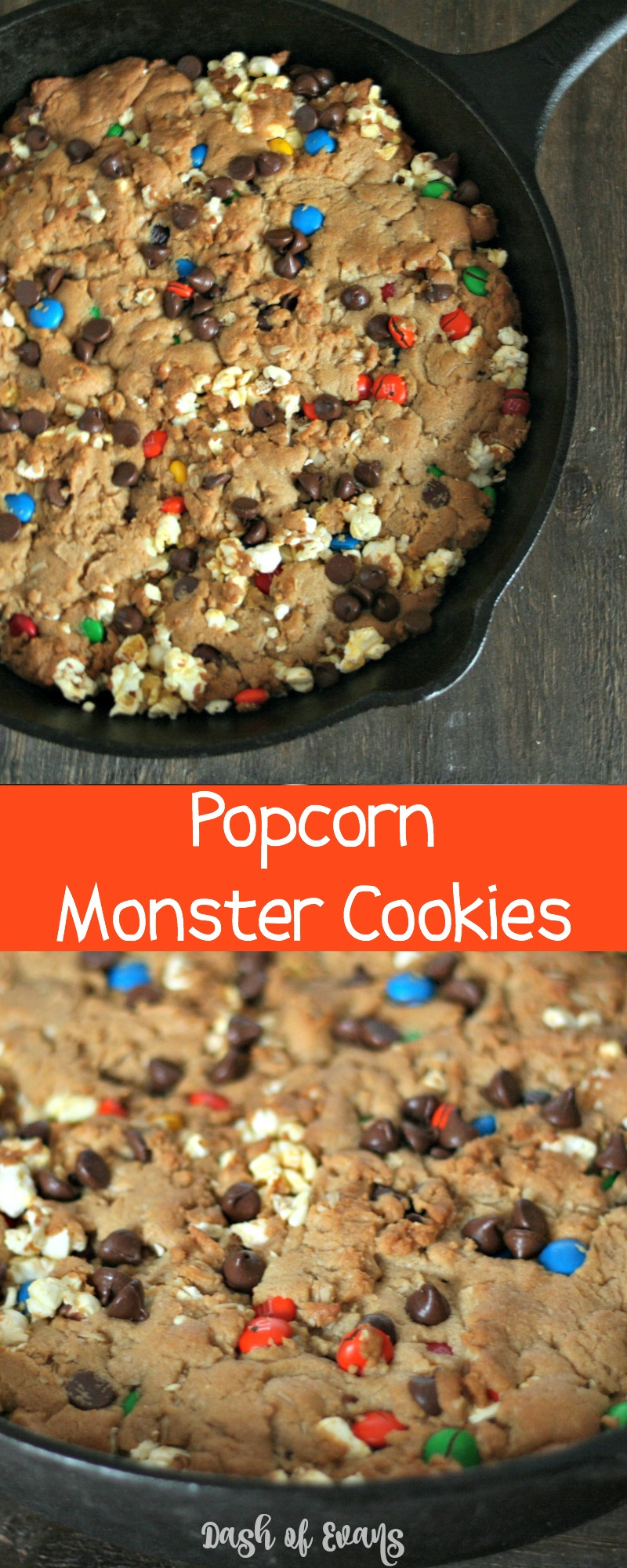 What makes monster cookies even better? POPCORN! #MakeItAMovieNight (ad)