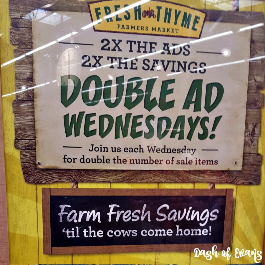 Fresh Thyme has DOUBLE AD days on Wednesday! You can shop the new AND old ads at the same time! Great for getting the best deals. #FreshThyme #GrandRapids