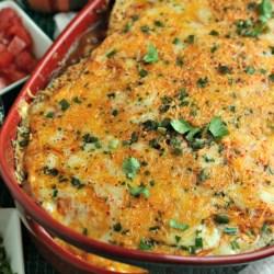 Cheesy Turkey Enchilada Lasagna