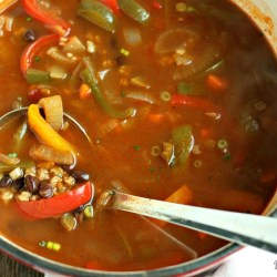 Fajita Veggie & Brown Rice Soup