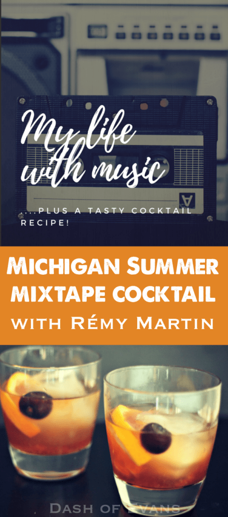 his is going to be your new favorite drink: Michigan Summer Mixtape. Delicious Rémy Martin VSOP, homemade Michigan cherry simple syrup and a splash of soda water. Sip and enjoy! via @DashOfEvans