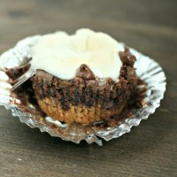 Shhh, no one has to know how easy these S'mores Brownie Cups are! Using new Toll House Brownie Mix, graham crackers and marshmallow, these are ready in less than 30 min! (ad) #meltinmoments