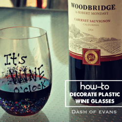 How to Personalize Plastic Wine Glasses ...