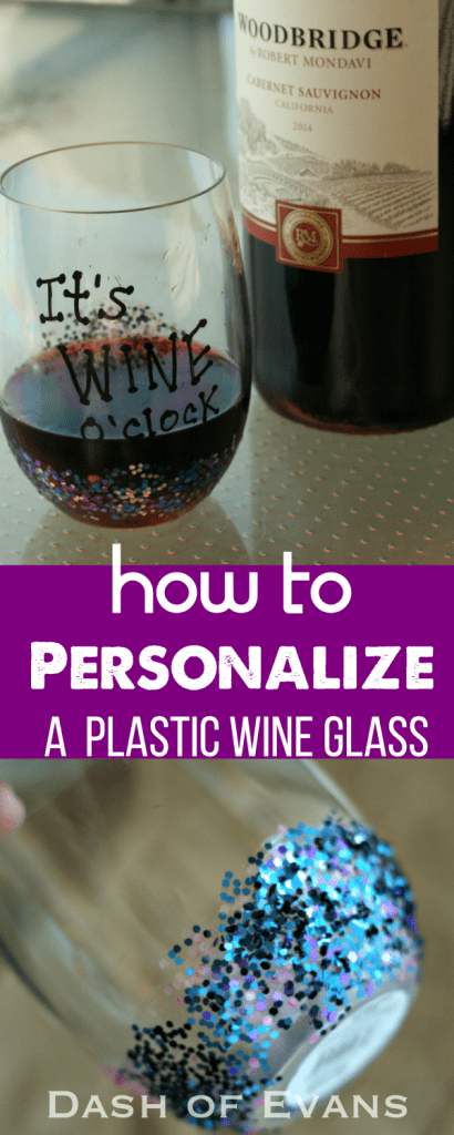 How to personalize a plastic wine glass for parties! via @DashOfEvans #ad #VinoBlockParty