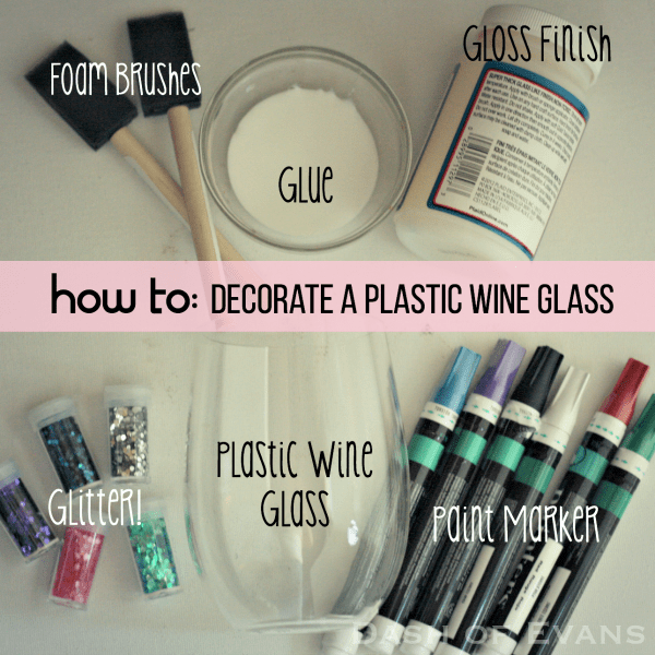 How to Personalize a plastic wine glass for your next party--plus the PERFECT wine for any gathering Woodbridge by Robert Mondavi! via @DashOfEvans #Ad #VinoBlockParty