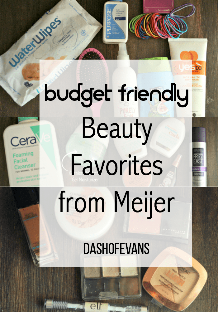 Budget friendly beauty favorites from Meijer--including some for the kiddos! via @DashOfEvans (ad)