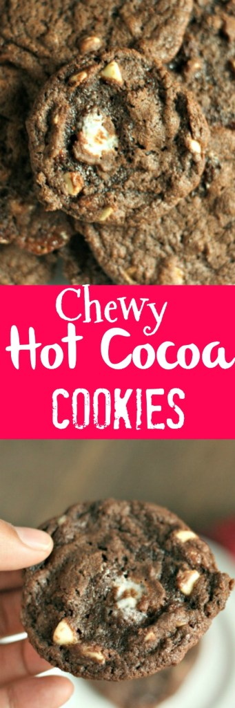 A new holiday favorite: Hot Cocoa Cookies! Super ooey, gooey and chewy! Perfect for Santa! via @dashofevans