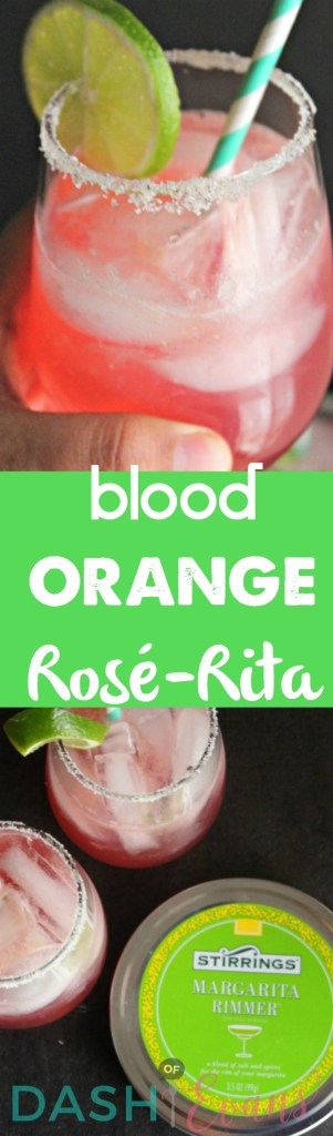 Say hello to your new BFF: Rosè-Rita! Sweet rosè wine, mixed with Stirrings Blood Orange mixer and tequila! Yum! #StirringsMixologyContest