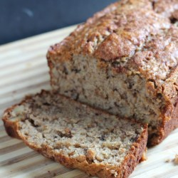 Banana Walnut Bread with Greek Yogurt