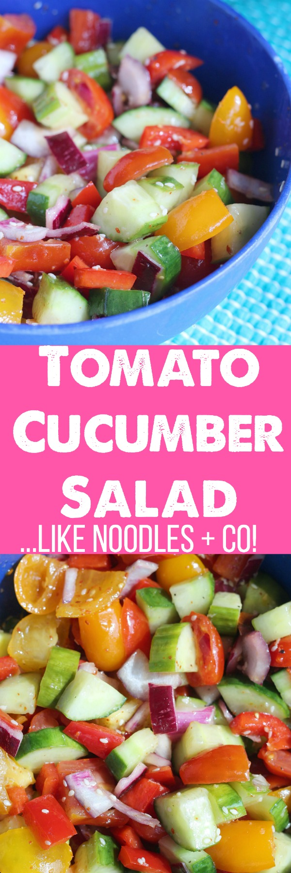 Do you LOVE the Noodles + Co. Tomato Cucumber Salad? This copycat is even better! via @DashOfEvans