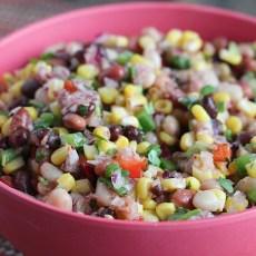 Healthy Salad: Mexican Mixed Bean Salad