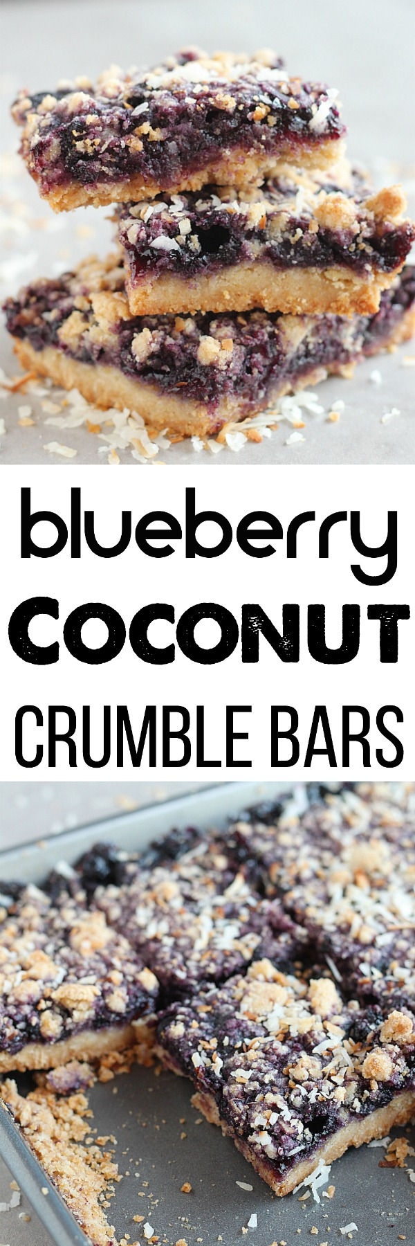 Blueberry & Coconut are the perfect combination for these crumble bars--perfect for summer berries! Top with ice cream when they're hot or enjoy as a snack on the go. YUM! via @DashOfEvans