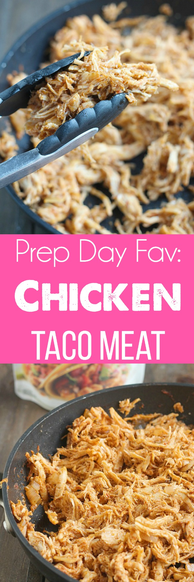 Easy prep day item: chicken taco meat! Perfect for salads, nachos and Taco Tuesday. Simply Organic Simmer sauce makes it easy. via @DashOfEvans #Ad #OrganicMoments
