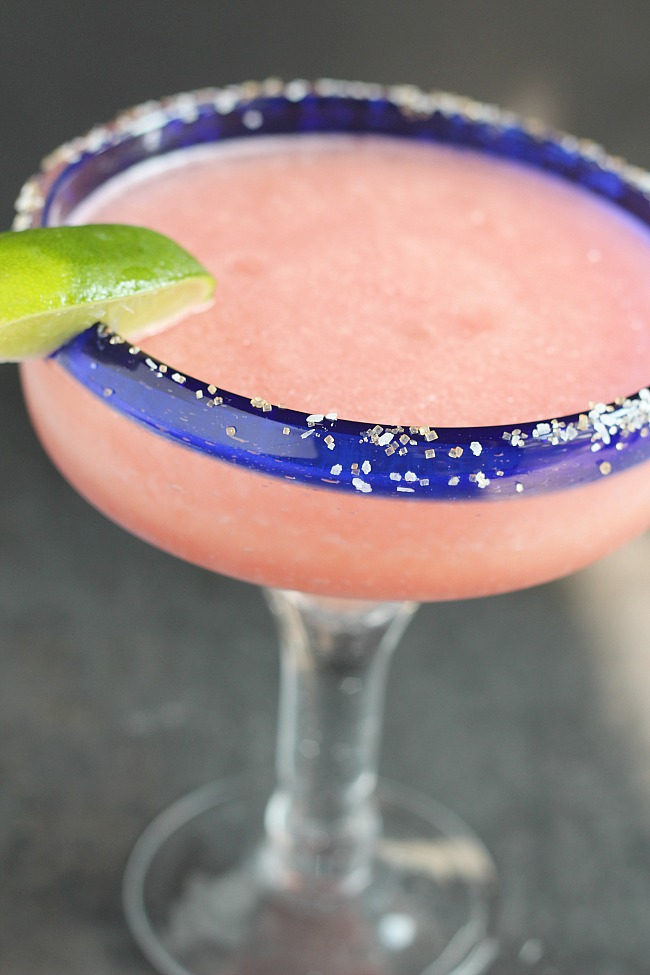 Why stick with a basic Frosé when you can add tequila --especially Viva XXXII Tequila! Using frozen watermelon, Rosé wine and ice, this is sure to be your next favorite cocktail! via @DashOfEvans