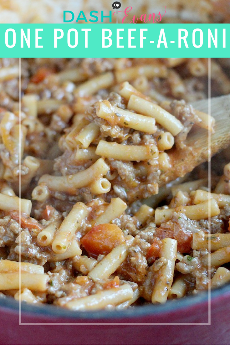 A great family friendly recipe: One-pot Beef-a-roni. No boiling water here...everything is made in the same pot. via @DashOfEvans