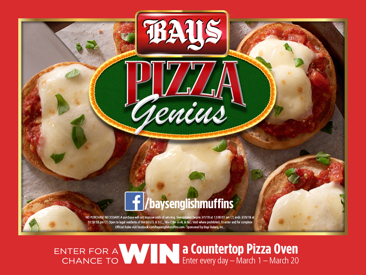 Enter to win a Pizza Maker and Bays English Muffins NOW! via @DashOfEvans #BaysEnglishMuffins