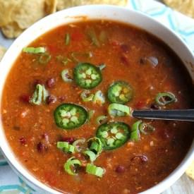 Weight Watchers Friendly 3 Bean Chicken Chili {0 Points!}