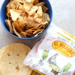 Easy, crispy baked tortilla chips for salsa, dips and nachos. SO easy and Weight Watchers friendly. via @DashOfEvans