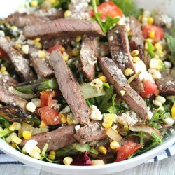 Easy Grilled Steak and Veggie Salad