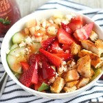 Summer Strawberry & Apple Salad with Grilled Chicken