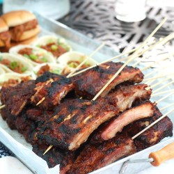 Easy Cookout Menu featuring Curly'...