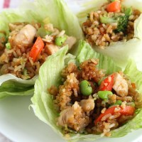 Tai Pei to the rescue for a quick and easy dinner--or a great appetizer! Using Teriyaki Chicken, just put in a lettuce cup! via @DashOfEvans