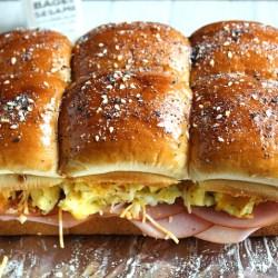 Ham, Egg and Cheese Breakfast Sliders