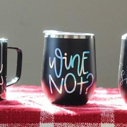 Easy Cricut Craft: Holiday Gift Mugs