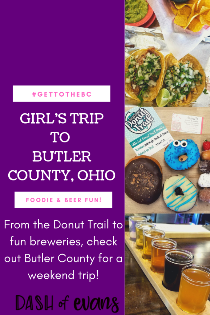 In the Midwest? Head to Butler County, Ohio for foodie fun, amazing breweries and don't forget Jungle Jim's. Check out the post for all of our girls weekend fun! via @DashOfEvans #GetToTheBC