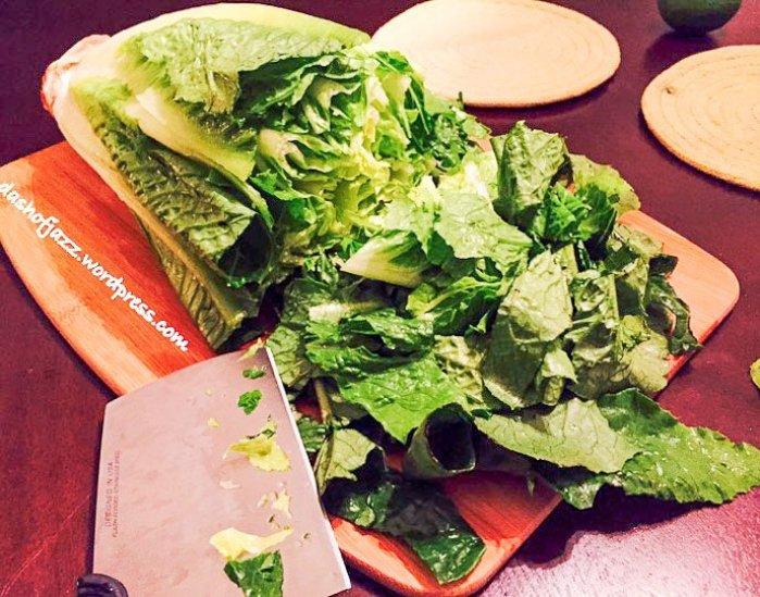 chopped head of romaine lettuce