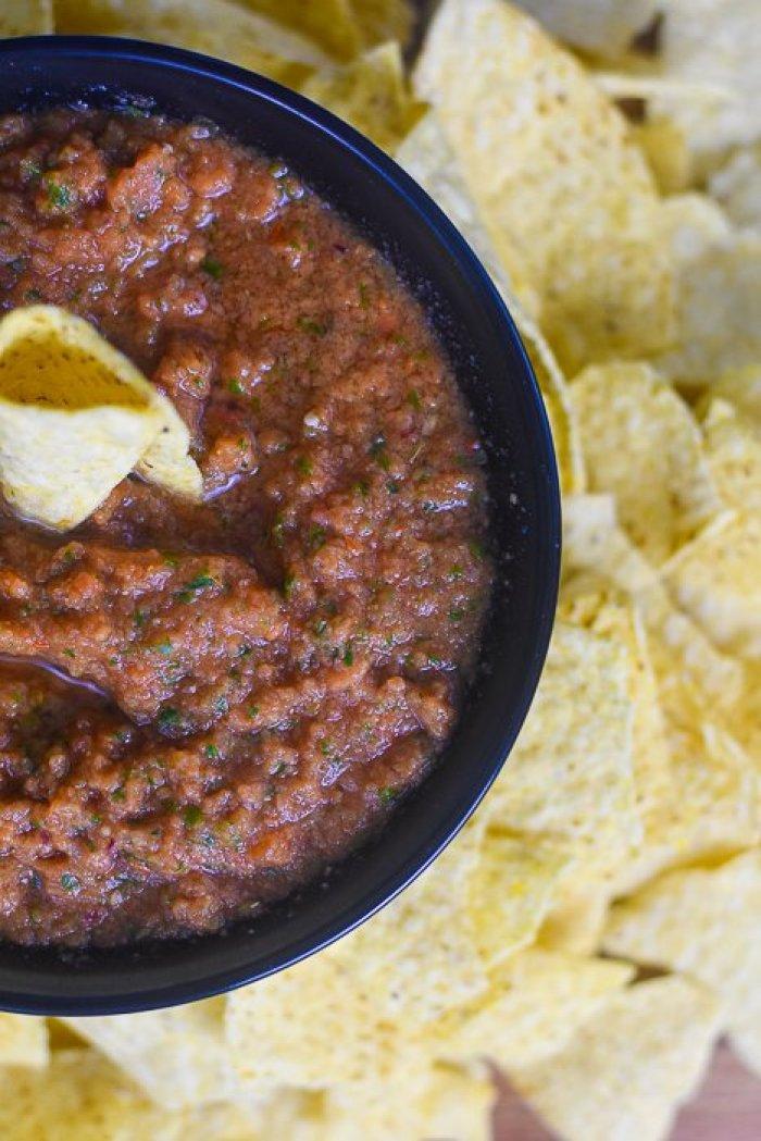 homemade restaurant-style blender salsa