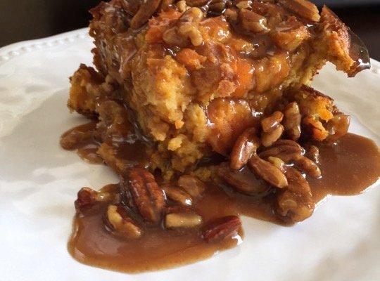 Sweet Potato Praline Bread Pudding