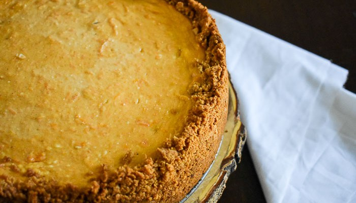 Sweet Potato Cheesecake with Spiced Crust
