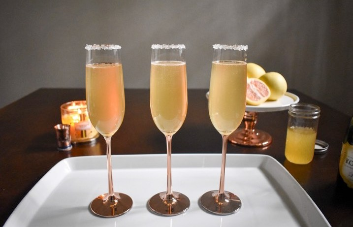 Citrus Champagne Sparklers | Dash of Jazz