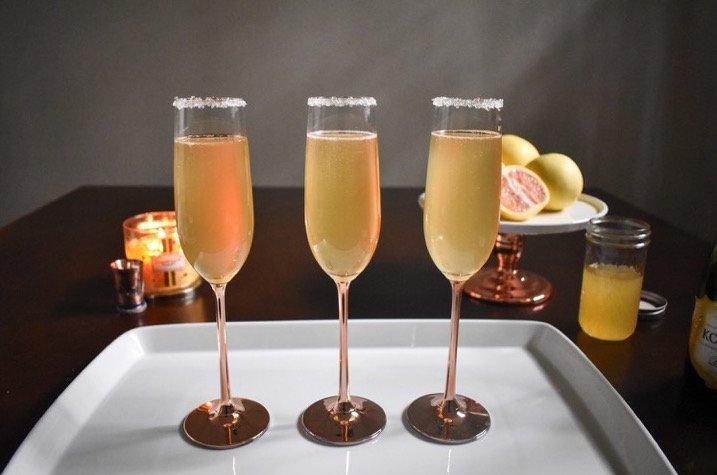 Citrus Champagne Sparklers | Dash of Jazz
