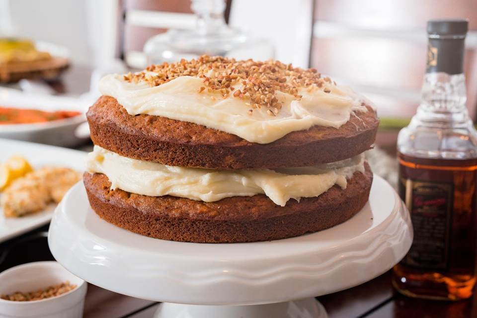 Naked Bourbon Carrot Cake
