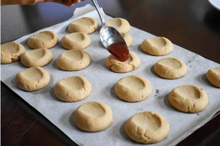 PB&J Thumbprint Cookies   Dash of Jazz