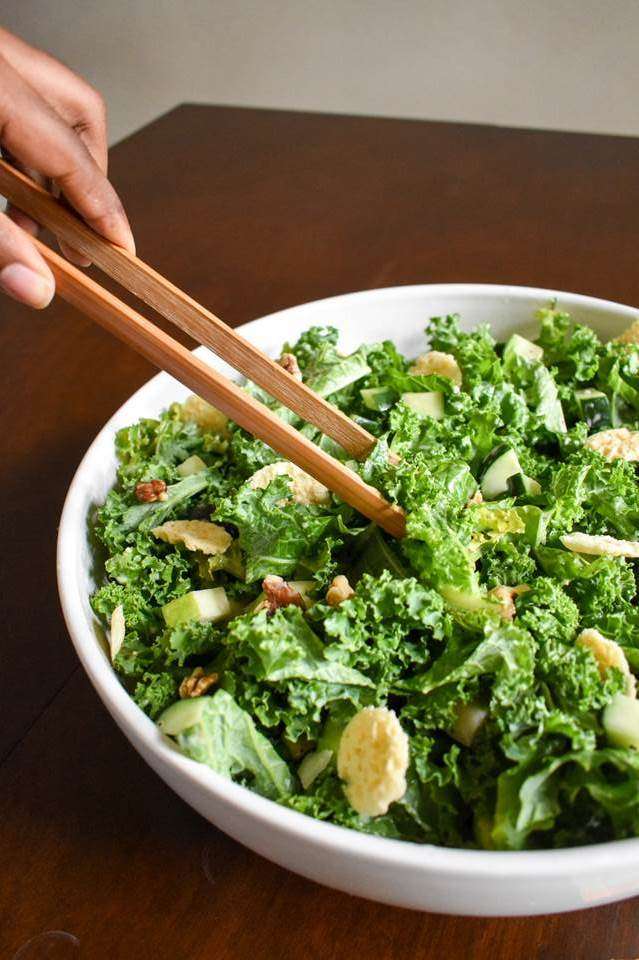 Crunchy Kale Salad | Dash of Jazz