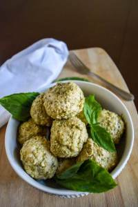 Parmesan Pesto Meatballs | Dash of Jazz
