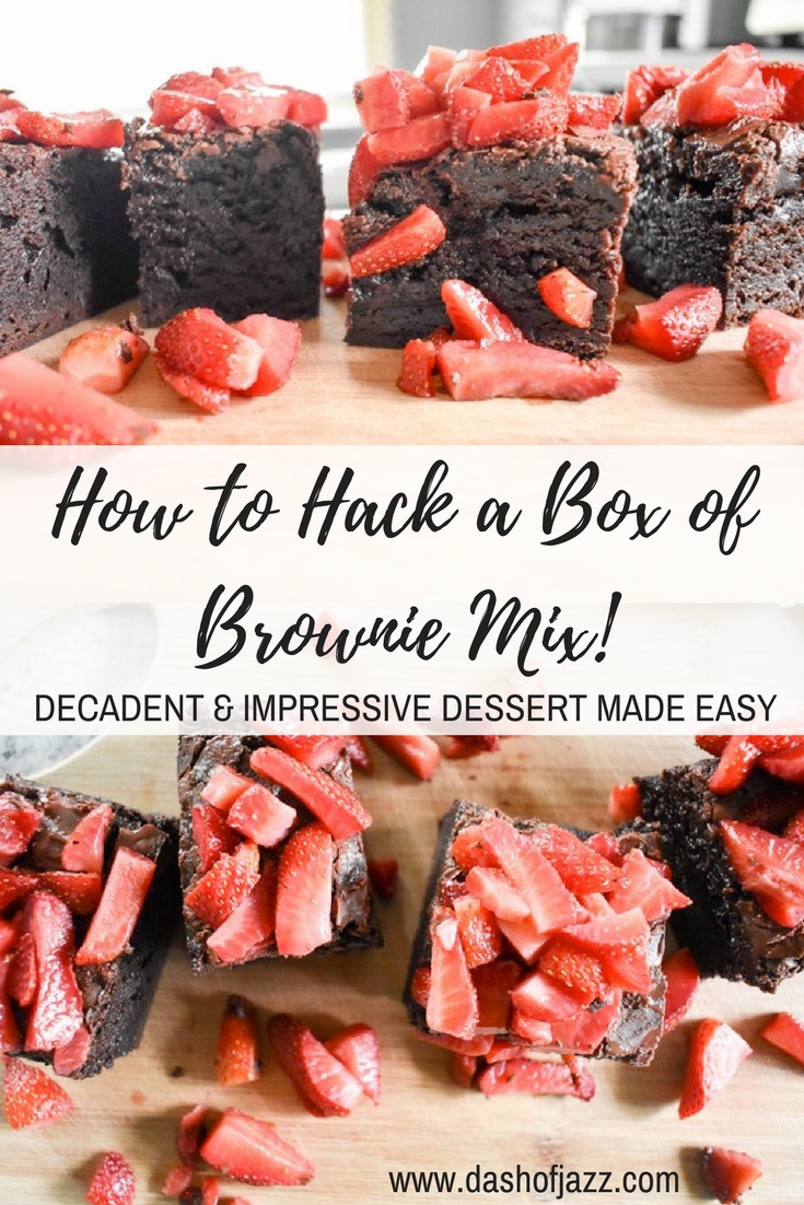 With these three easy tricks to hack a box of brownie mix into an impressive and indulgent dessert, no one will ever suspect your batch wasn't made from scratch! Recipe by Dash of Jazz