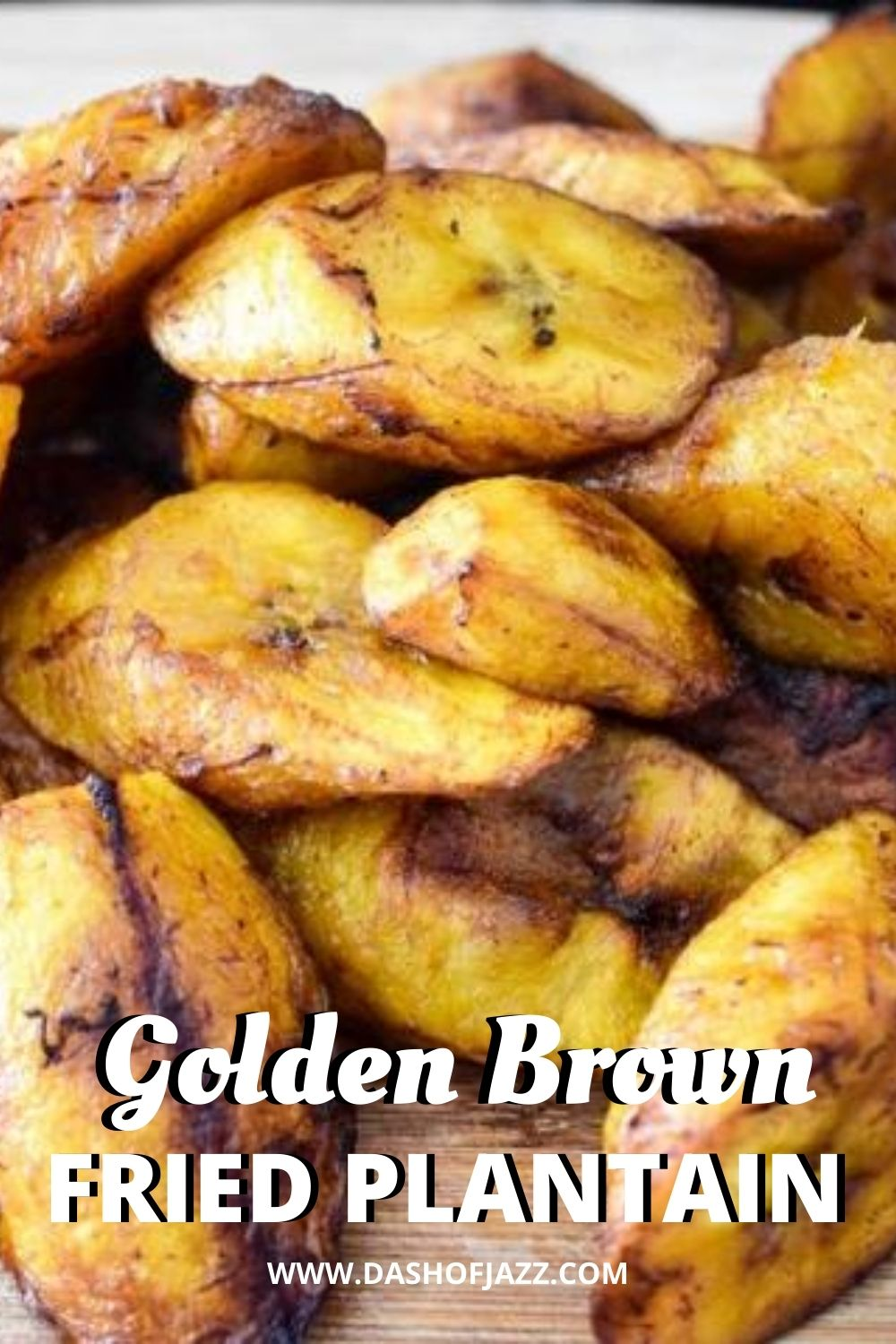 close up of fried plantain slices