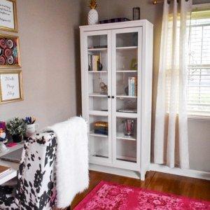 Colorful & Feminine Home Office Tour