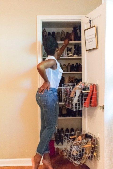 Weekend Project - DIY Shoe Closet   Dash of Jazz