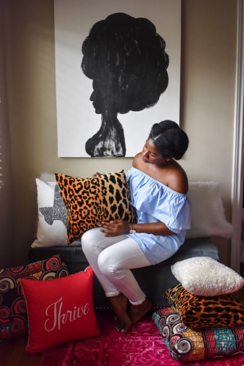 Style your home on a budget with these money-saving throw pillow tips + DIY tutorial. Make designer-inspired leopard pillows for under $25! by Dash of Jazz